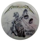 Metallica - 'and Justice for All' Button Badge